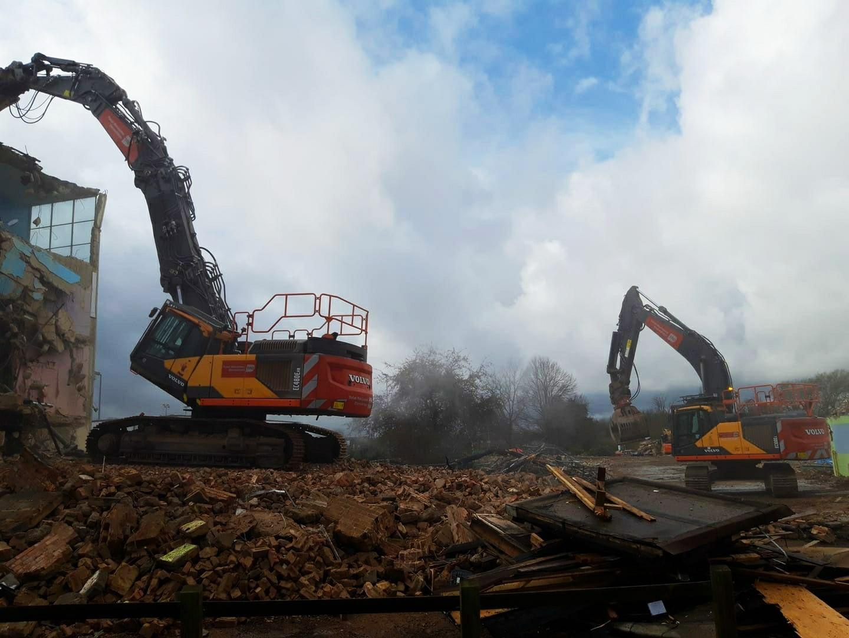 Demolition of Mark Hall Academy